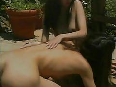 lesbian, tube8.com, girl on girl, brunette, small tits, petite, piercing, pussy licking, bald pussy, trimmed pussy, dildo