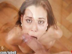 Throated pornstar satin bloom's extreme deepthroat scene!