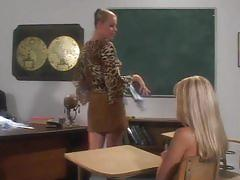 fetish, tube8.com, cheerleader, class room, blonde, spanking, paddle, stockings, detention, punishment, kinky, girl girl