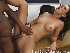 hardcore, blackdongattack.com, class room, teacher, bbc, interracial, sucking dick, heels, fingering, busty, doggy style, hairy, bush, ass fucking, facial