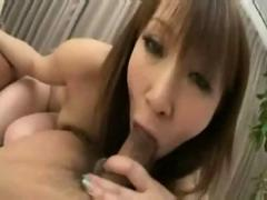 Asian babe dp threesome pussy anal creampie