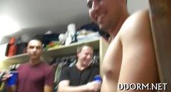 College party goes wild after strip poker