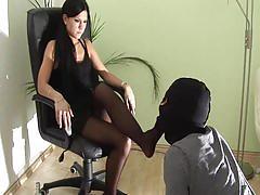 fetish, shoe licking, smoking, femdom, crush passion, chanel