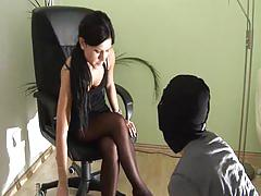 fetish, shoe licking, smoking, femdom, crush passion, chanel
