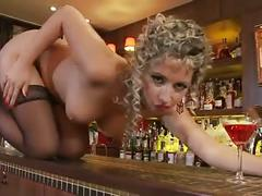 Daria glower strips and fingers herself
