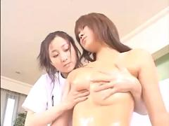 Japanese lesbian massage pt3