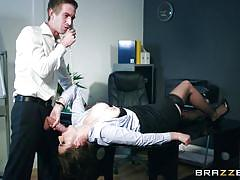 milf, big tits, big cock, on table, boobs groping, at work, big tits at work, brazzers, danny d, marie clarence