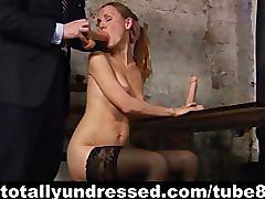 Kinky dildo test for sexy secretary