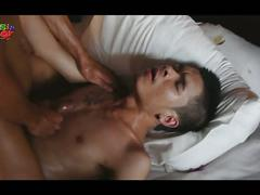 Electrifying twinky asian massage with cuties from far east