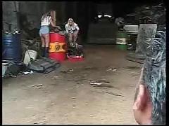 British lesbians in junkyard