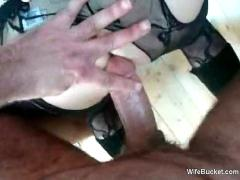 Wife in cuffs gets anal sex