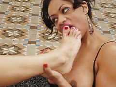 Spanish lesbian foot sex