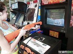 Arcade games and kinky fun in pov