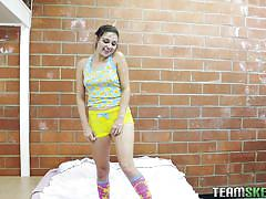 babe, blowjob, brunette, in car, pov, video games, pov life, team skeet, zoey foxx
