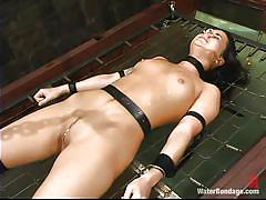 Slave is soaking wet and gets drowned