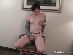 Small breasted artemis masturbating her pussy