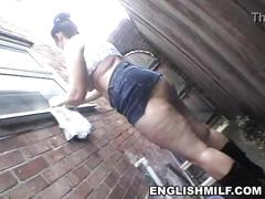 Big ass bbw english milf public flashing no panties