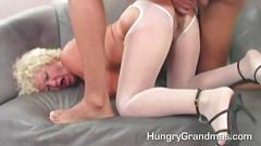 Granny and her younger lover decide its sex time