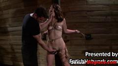 bdsm, bondage, fetish, fingering, hd, slave, toy, bound, brutal, master, tied up