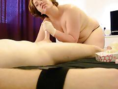 Scottish femdom milking handjob - stacy sins