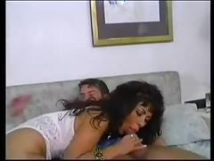 Busty milf with younger man, in german