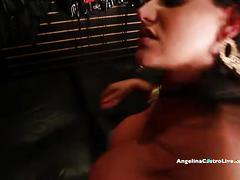 Big titted angelina castro fucks & squirts in a sex store!?