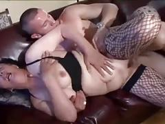 Hairy and saggy mature slut sucking and fucking
