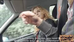 Little russian hitchhiker fucks like a pro