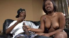 Black girl rides her boyfriends hard shaft