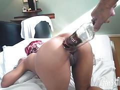 Extreme anal fisting and whiskey bottle insertion