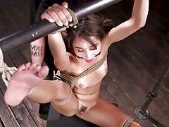Kinky torture with a thin wand