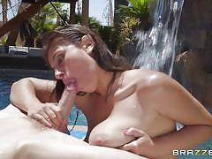 Banging her tight wet cunt under the water