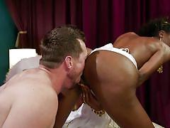 Chocolate tranny prefers to dominate white men