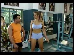 Hot gym workout
