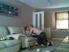 My mom and boyfriend having fun caught by hidden cam