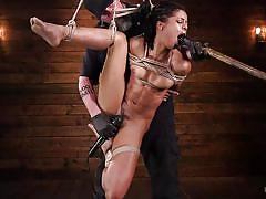 Rough bdsm pleasures for this chocolate pussy