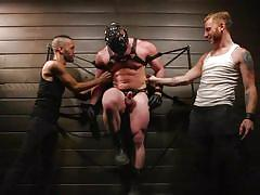Blake hunter in kinky bdsm gay threesome