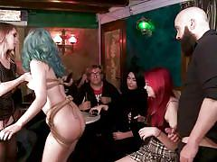 Crowd cheered liz rainbow for getting fucked in front of strangers
