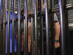 bdsm, handjob, domination, prison, bound gods, kink men, jeremy spreadums, michael del ray