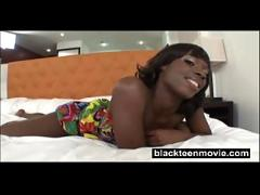 Young black teen rides white dick