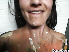 Hottie amateur fucked and jizzed on!