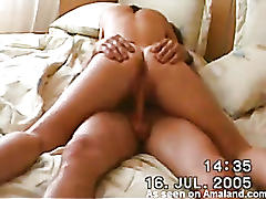 Hidden cam caught him fucking my amateur girlfriend!