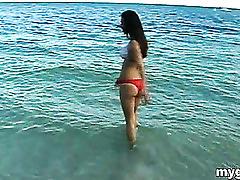 Superb girlfriend at the beach