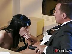 Kinky jessy jones feeds his spunk to natasha nice and alex harper