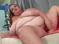 Bbw dildo fuck her moist pussy