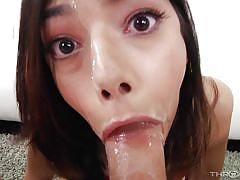 babe, big cock, deepthroat, rimjob, brunette, pov, throated, myxxxpass, harmony wonder