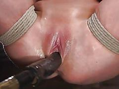 milf, big tits, fingering, brunette, japanese bdsm, suspended, dildo fuck, rope bondage, hogtied, kink, the pope, angela white