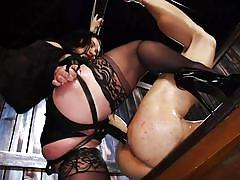 milf, anal, femdom, bdsm, strapon, busty, brunette, sex slave, ball gag, rope bondage, divine bitches, kink, lea lexis, adrian marx