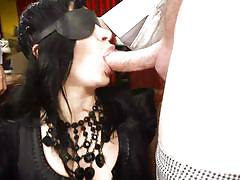 milf, threesome, bdsm, deepthroat, gangbang, blindfolded, brunette, big dicks, double blowjob, hardcore gangbang, kink, lea lexis, charles dera, mark wood, owen gray, gage sin