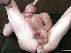 He needs one dildo in his mouth and another in his butt